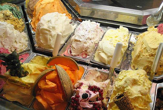 Витрины для мороженого, мороженое